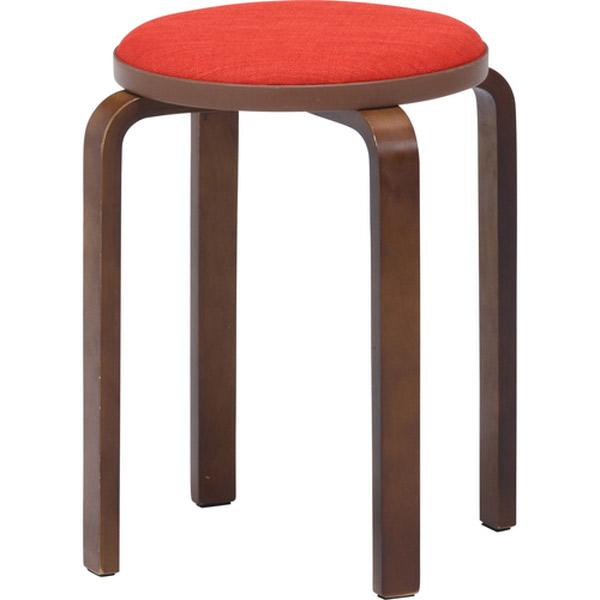 スツール 永遠の定番モデル 椅子 チェアー ファブリック スタッキング お得なキャンペーンを実施中 14546 オレンジ 4953980145468 不二貿易:KDファブリック曲木スタッキングスツール ブラウ