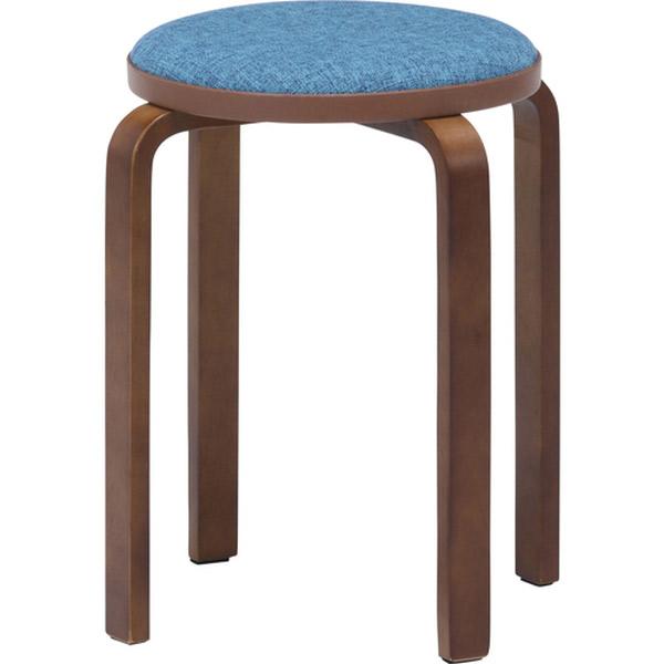 スツール 椅子 チェアー ファブリック 人気急上昇 スタッキング 不二貿易:KDファブリック曲木スタッキングスツール ブラウ 4953980145475 値引き ブルー 14547