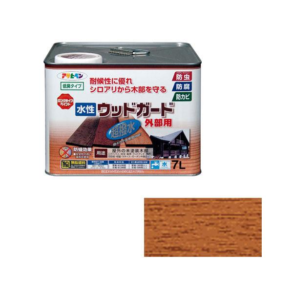 塗料 水性 マート 木部 保護 格安 価格でご提供いたします 4970925417428 ライトオーク 2 アサヒペン:水性ウッドガード外部用 7L