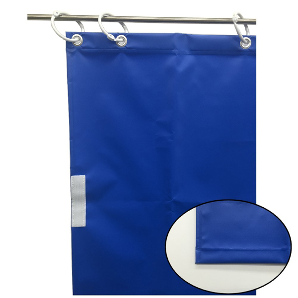 【代引不可】ユタカメイク:オーダー簡易間仕切りカラーターポリン ブルー 厚み0.25mm×幅180cm×高さ165cm