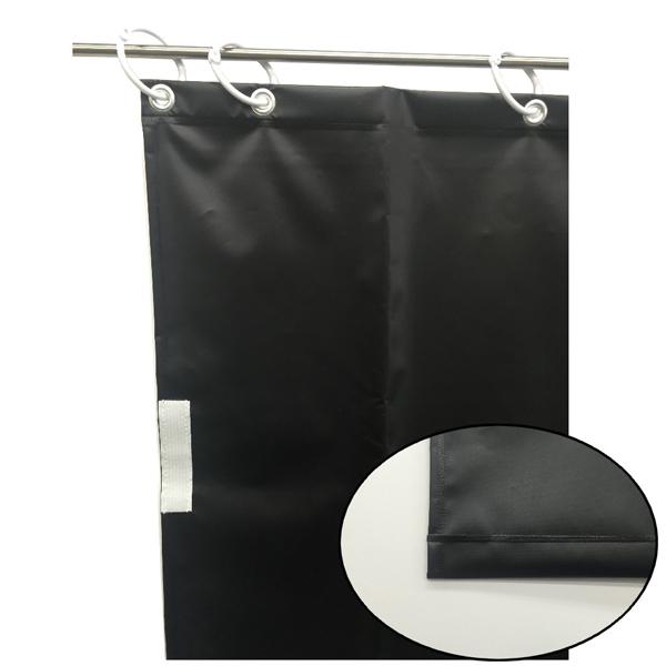 ユタカメイク:オーダー簡易間仕切りカラーターポリン ブラック 厚み0.25mm×幅180cm×高さ410cm