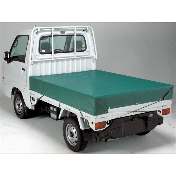 萩原工業:エステル帆布トラックシート4号 3.0×3.7m グリーン