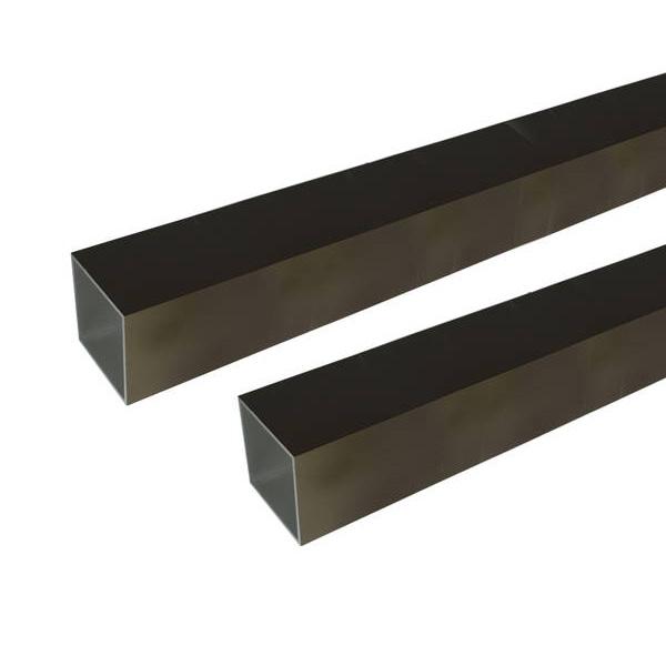 【代引不可】安田:アルミ角パイプ 2m 2.0x50x50mm ブロンズ 2本組 3100438