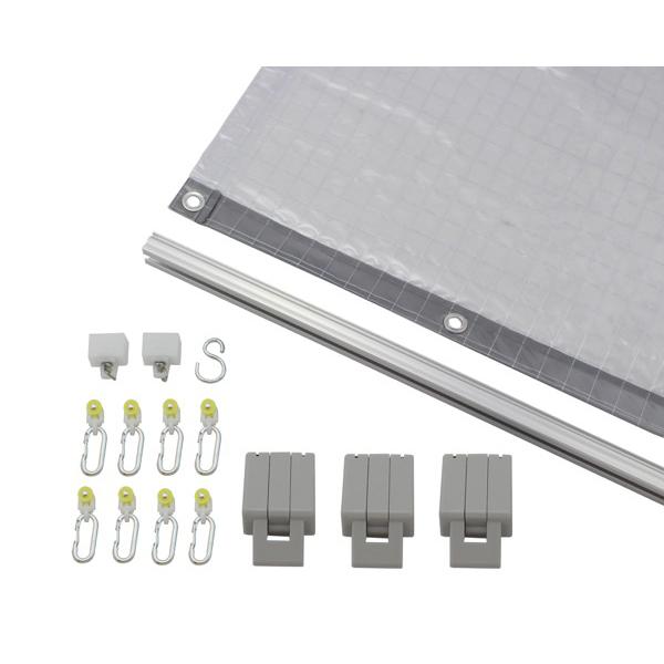 日中製作所:スチール棚用防塵シートセット W1800用 KL5515-180