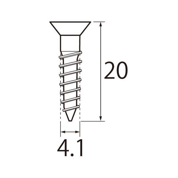 福井金属工芸:ステンレス木ネジ4.1×20 1440本入 6727