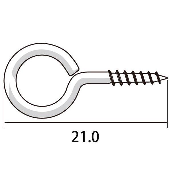 福井金属工芸:丸ヒートン21mm 3000本入 6900-B