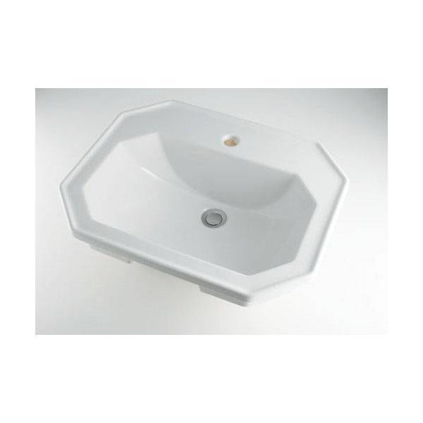 カクダイ:角型洗面器1ホール #DU-0476580000