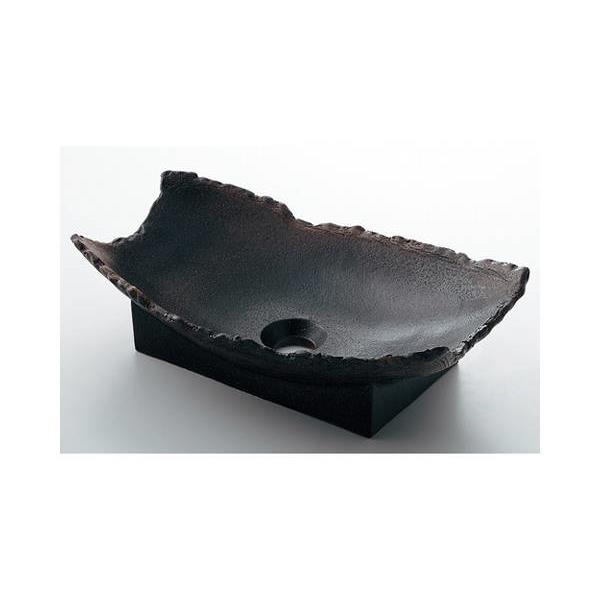 カクダイ:舟型手洗器古窯 493-027-DG