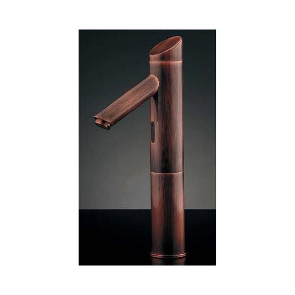 カクダイ:センサー水栓トール、ブロンズ 713-323