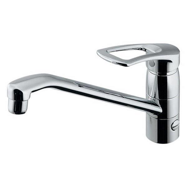 カクダイ:シングルレバー混合栓(分水孔付) 117-063-180