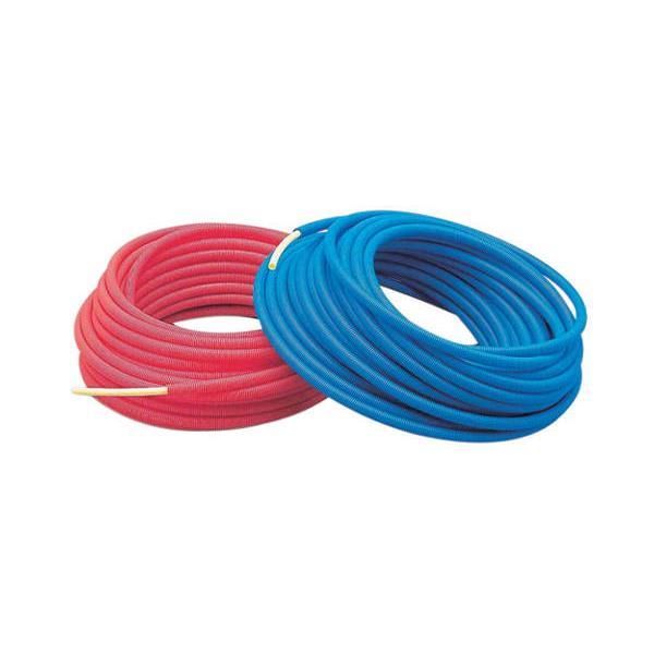 カクダイ:サヤ管付架橋ポリエチレン管(青) 10A×22 672-131-50B