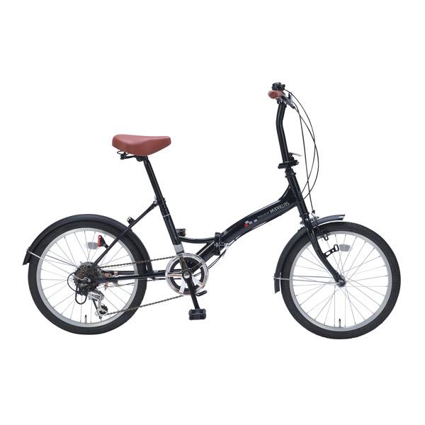 【代引不可】MYPALLAS(マイパラス):折畳自転車20インチ・6段ギア ブラック M-209 BK