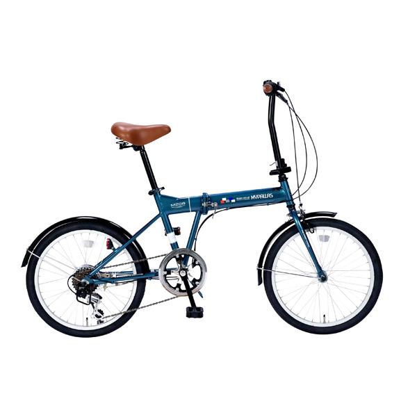 【代引不可】MYPALLAS(マイパラス):折畳自転車20インチ・6段ギア オーシャン M-208 OC