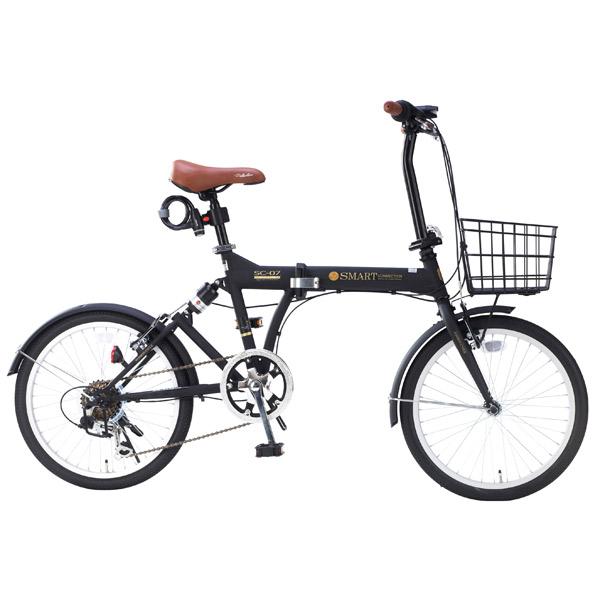 【代引不可】MYPALLAS(マイパラス):折畳自転車20インチ・6段ギア・リアサス マットブラック SC-07PLUS BK