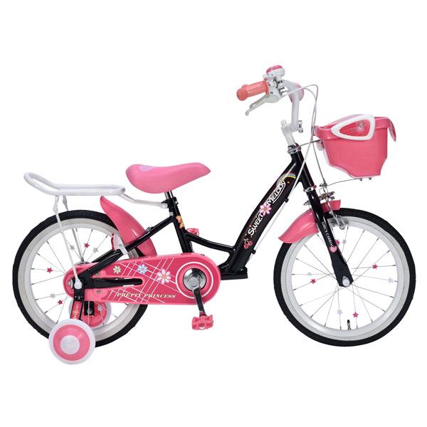 【代引不可】MYPALLAS(マイパラス):子供用自転車16インチ・補助輪付 ブラック MD-12 BK