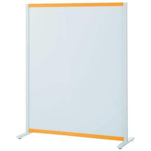 プラス:パーティションホワイトボード(固定脚タイプ)オレンジ 706614 VSC-1215NA-OR