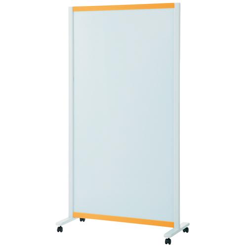 プラス:パーティションホワイトボード(キャスター脚タイプ)オレンジ 706623 VSC-0917NK-OR