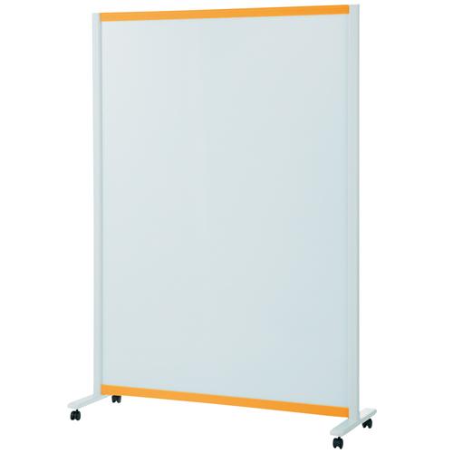 プラス:パーティションホワイトボード(キャスター脚タイプ)オレンジ 706624 VSC-1217NK-OR