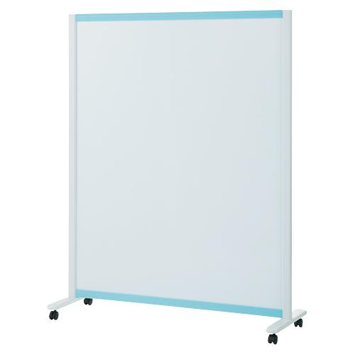 プラス:パーティションホワイトボード(キャスター脚タイプ)ブルー 706630 VSC-1215NK-BL