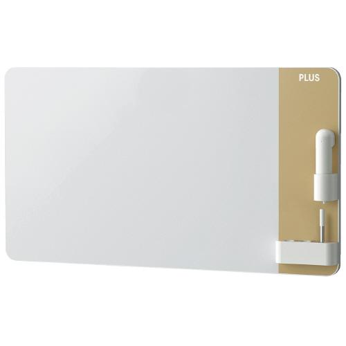 プラス:クリーンボード クレア(CREA) 壁掛 電動イレーザー付 ベージュ 754611 CLBK-0906EM-BE