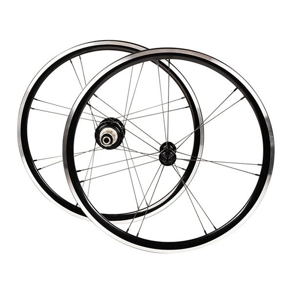 韋駄天(IDATEN):PARALLEL RACE 20゛ミニヴェロホイールセット ブラック 自転車 フロント リア ID-PR451-F100B