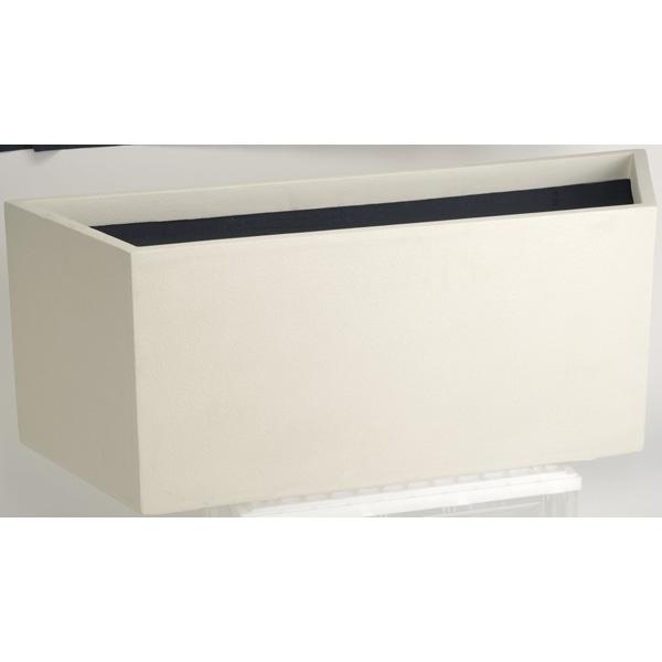 【代引不可】大和プラスチック:ファイバーグラス鉢カバー オクタゴン 100型 ホワイト