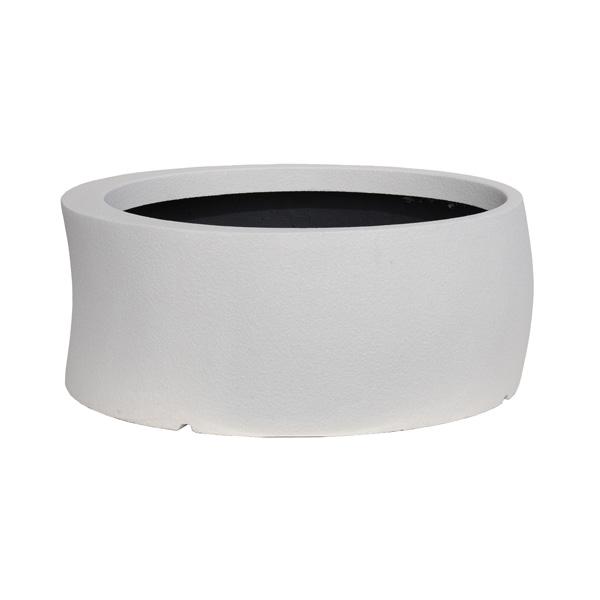 【代引不可】大和プラスチック:ファイバーグラス鉢カバー カーブ 82型 ホワイト