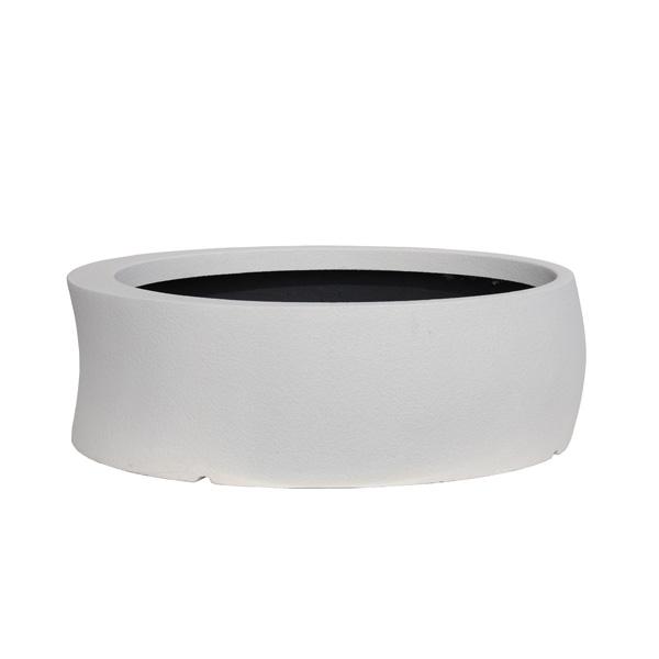 【代引不可】大和プラスチック:ファイバーグラス鉢カバー カーブ 100型 ホワイト
