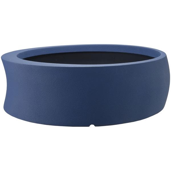 大和プラスチック:ファイバーグラス鉢カバー カーブ 100型 ダークブルー