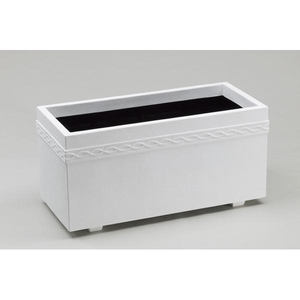 【代引不可】大和プラスチック:ホワイトプランターWPL-100型 ホワイト