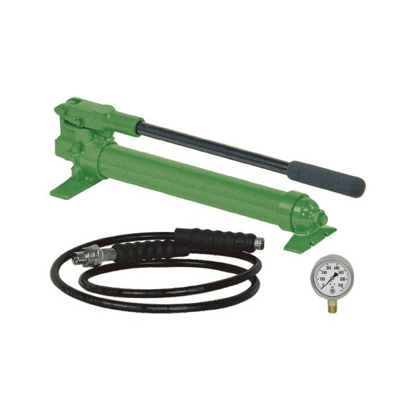 KUKKO(クッコ):油圧ハンドポンプ+2Mホースダイヤルゲージセット YHP-325