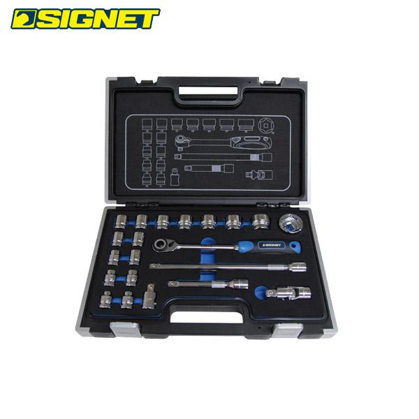 SIGNET(シグネット):1/2DR 21PC ショートソケットセット(6角) 13137