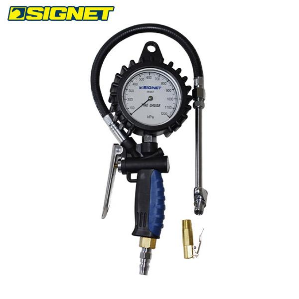 SIGNET(シグネット):増減圧機能付タイヤゲージ(0-1200KPA) 46967