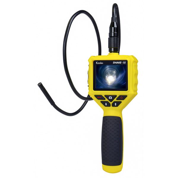 SNAKE-15 ケンコートキナー 4961607434789 Kenko(ケンコー):LEDライト付き防水スネイクカメラ レンズ交換式 SNAKE-15
