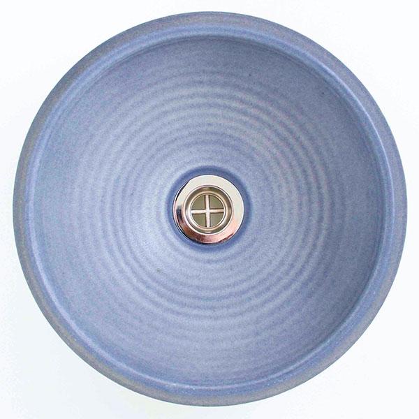 重蔵窯:MEBIUS手洗い鉢  利休信楽 ブルーブラック MEBI-1127BB