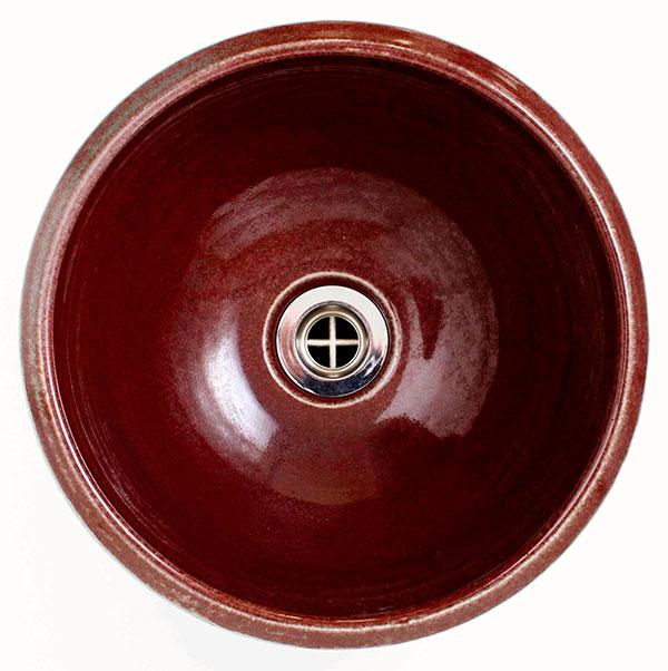 重蔵窯:MEBIUS手洗い鉢  利休信楽 レッドブラック MEBI-1127RB