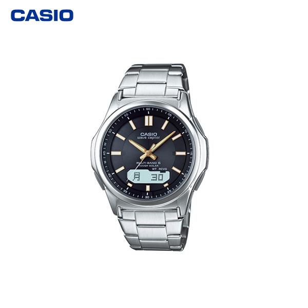 カシオ計算機(CASIO):電波ソーラーウオッチ(紳士用) WVA-M630D-1A2JF