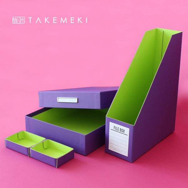 TAKEMEKI(タケメキ):デスクボックス 3点セット ピンク DES-458-PI