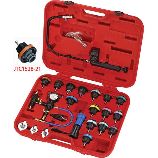 ラグナ:ラジエターキャップ&タンクテスター クーラントチェンジャー付き JTC4842AJ SST 特殊工具 自動車 整備 メンテナンス 修理 自動車