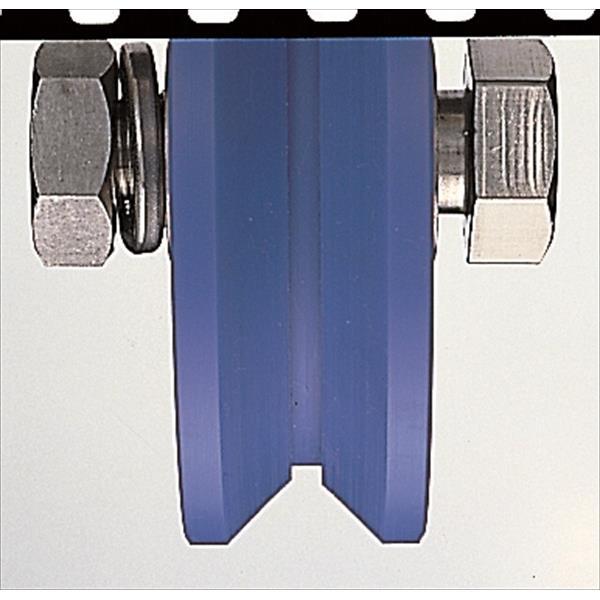 ヨコヅナ:MC防音重量戸車 ステンレス枠 V型 150mm 車のみ(ボルト・ナット付) JMP-1505
