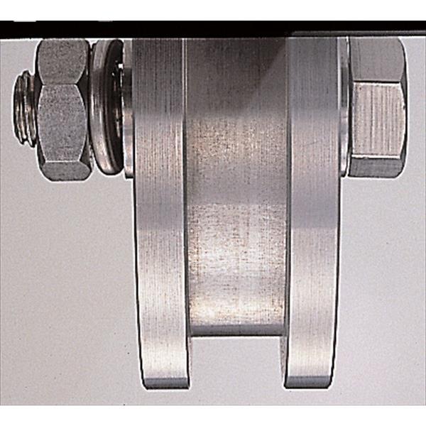 ヨコヅナ:440Cベアリング入 ステンレス重量戸車 ステンレス枠 H型 200mm 車のみ(ボルト・ナット付) JCP-2006
