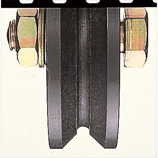 ヨコヅナ:鉄重量戸車 鉄枠 V型 150mm 車のみ(ボルト・ナット付) JHP-1505