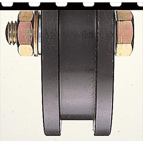 ヨコヅナ:鉄重量戸車 鉄枠 H型 150mm 車のみ(ボルト・ナット付) JHP-1506