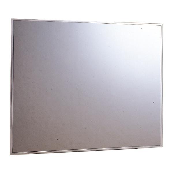 信栄物産:壁軽量ステンレス製平面ミラー壁面取付タイプ 450×600 TM-A