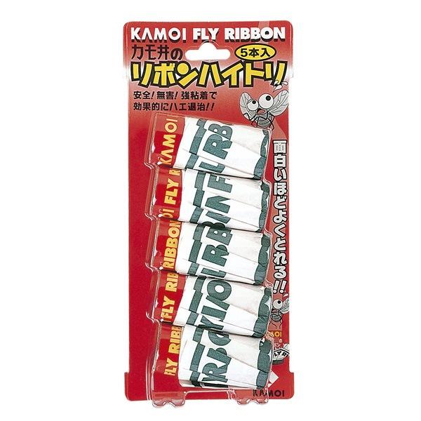 【代引不可】カモ井加工紙:リボンハイトリ 1パック(5本入り)×10パック×16ボール 160パックセット