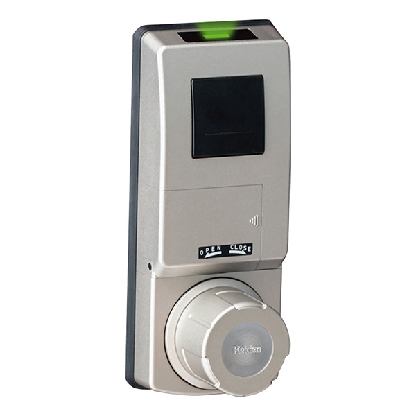 計電産業:非接触IC取替錠 Fe-Lock Light(登録可能ID数20) 対応錠前(MIWA/LSP・LEF) 扉厚32~40mm用 シルバー FELT-M-61F