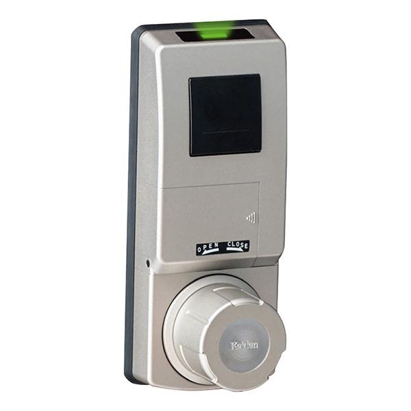 計電産業:非接触IC取替錠 Fe-Lock Light(登録可能ID数20) 対応錠前(MIWA/LA) 扉厚32~40mm用 シルバー FELT-M-65F