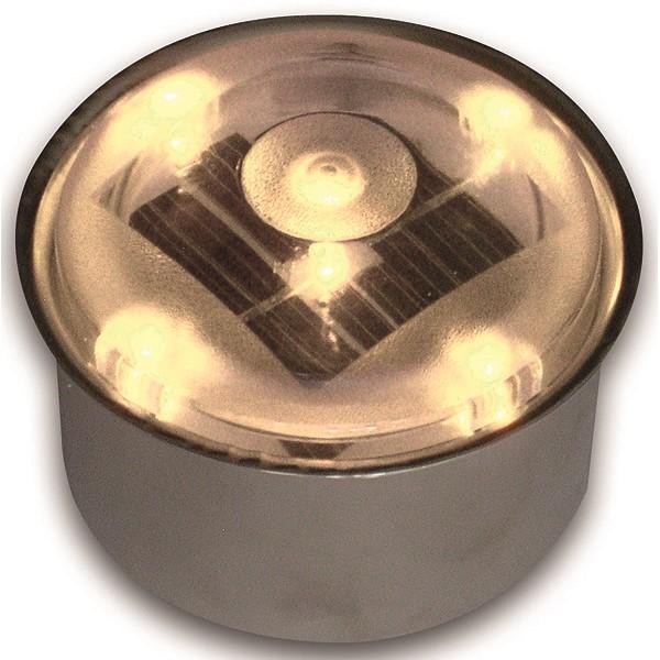 【代引不可】TIME&GARDEN:SOLAR BRICK SBH80R ソーラーブリック 丸型80φ アンバー(電球色)