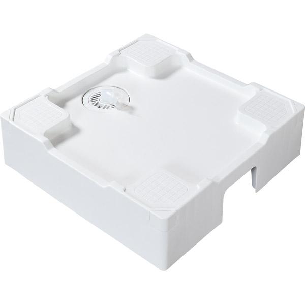 テクノテック:床上配管対応洗濯機防水パン ニューホワイト 排水管用開口あり TPR640-W3-F1