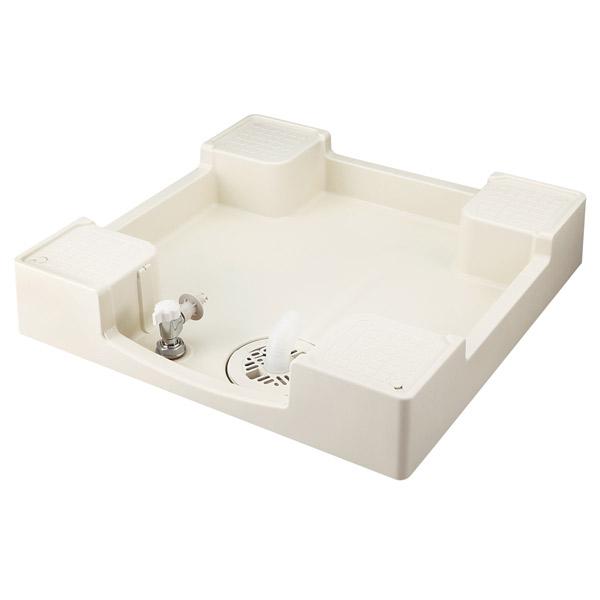 テクノテック:給水栓付防水パン フォーセットパン 専用ガード無し アイボリーホワイト TPF640-CW1-GN